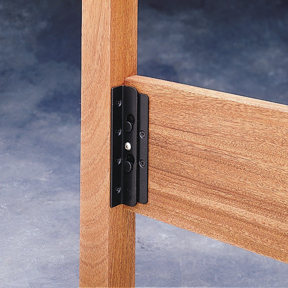 Surface Mounted Keyhole Bed Rail Brackets By Rockler Ship From Us