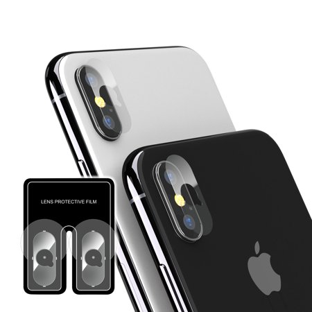 new products 4a3d7 f6bb2 Insten 2-Piece Rear Camera Lens Protector Protective Cover Film Guard  Shield For Apple iPhone XS / iPhone X