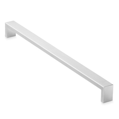 Cauldham Solid Stainless Steel Cabinet Hardware Square Handle Pull Brushed Satin Nickel (Brushed Stainless Pull Plate)