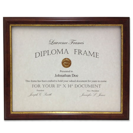 185111 Walnut And Gold Document 11x14 Picture Frame Walmart