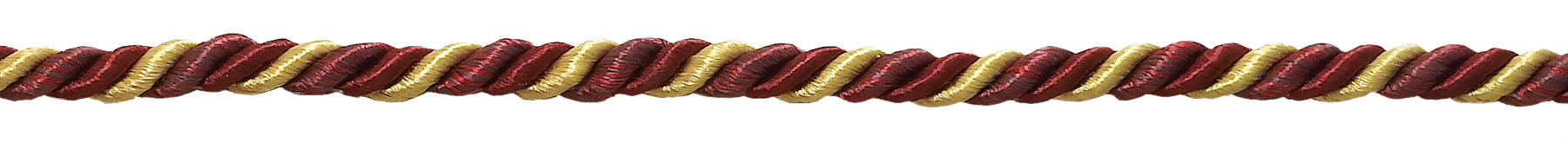 CRANBERRY HARVEST Small Burgundy Taupe Baroque Collection 3//16 Decorative Cord Without Lip Style# 316BNL Color 8612 Sold by The Yard