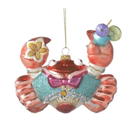 Cute Tropical Fun Party Crab  Christmas Holiday - Fun Christmas Ornaments