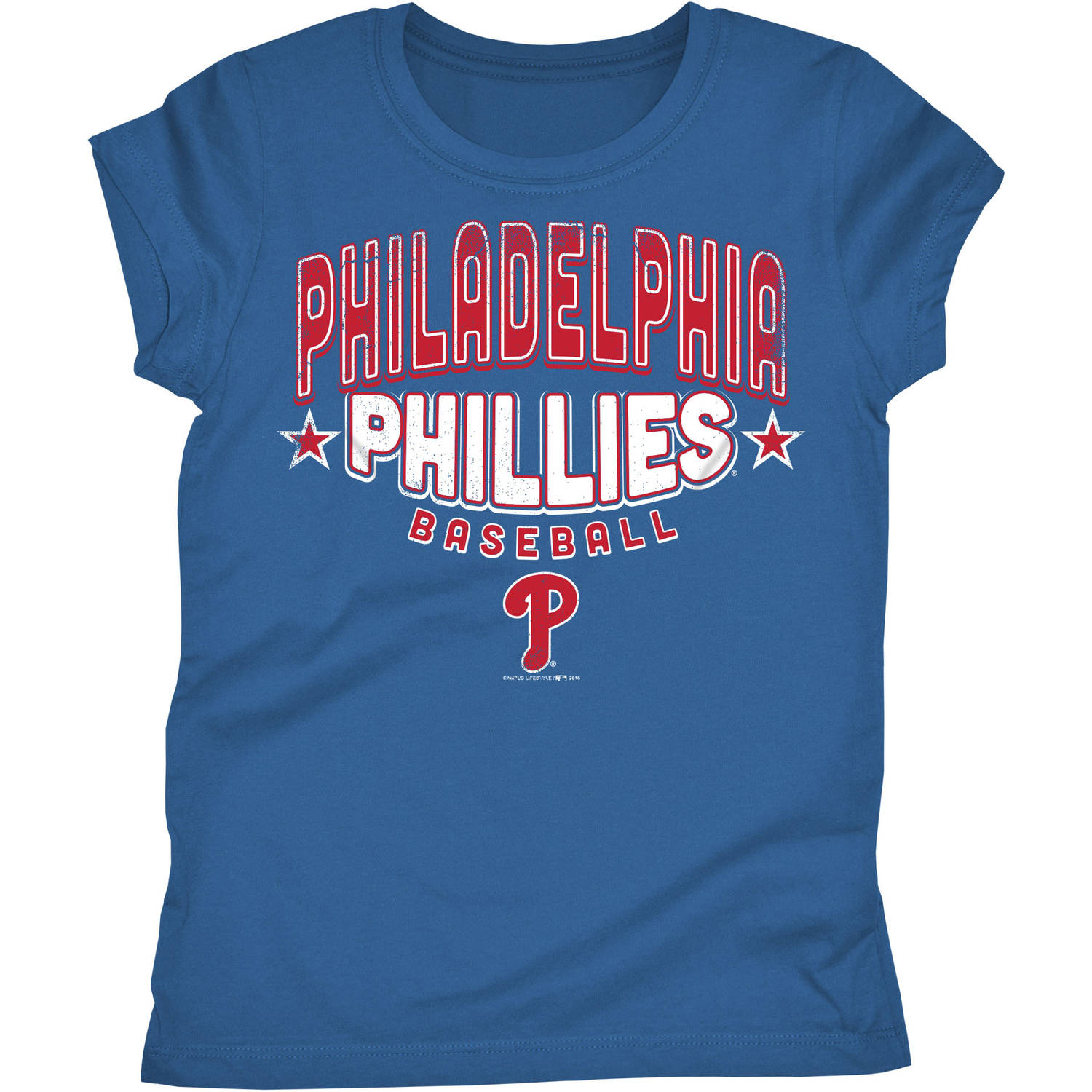 Philadelphia Phillies Girls Short Sleeve Graphic Tee