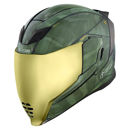Icon Airflite Battlescar 2 Motorcycle Helmet Green