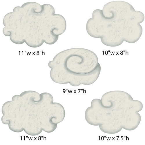 My Wonderful Walls Classic Nursery Cloud Wall Stickers by My Wonderful Walls