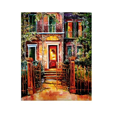 Garden District Metal (Garden District Gate Print Wall Art By Diane Millsap )