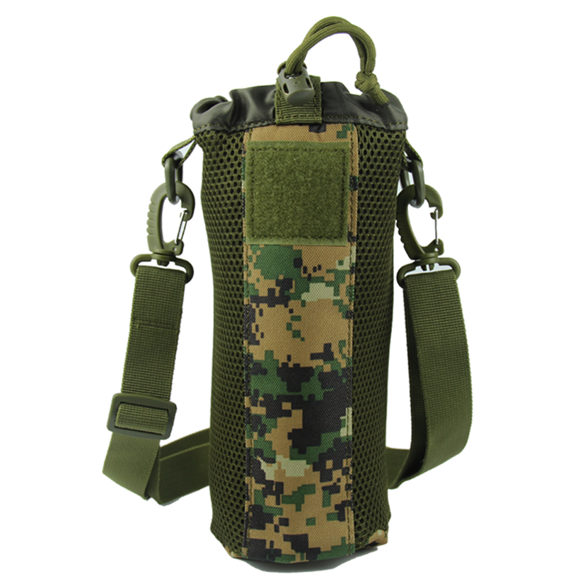 New Tactical Hiking Camping Water Bottle Holder Belt Carrier Pouch Nylon Bag One