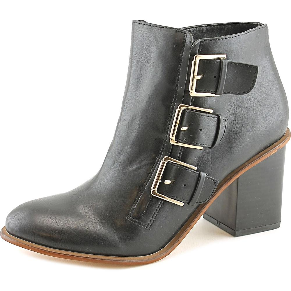 Restricted Tracy Women  Round Toe Leather Black Ankle Boot