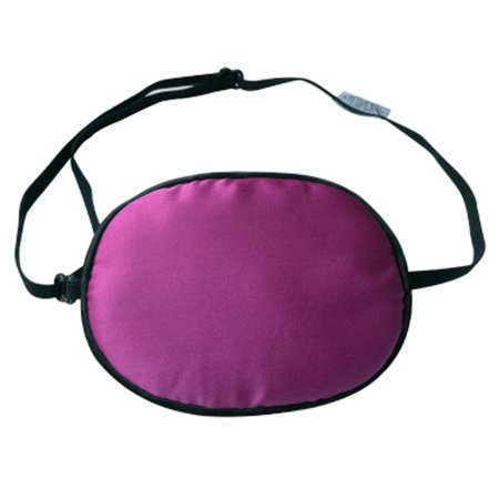 Adult Kids Amblyopia Strabismus Lazy Eye Adjustable Soft Pirate Eye Patch Single Eye Mask (Adult) , Violet