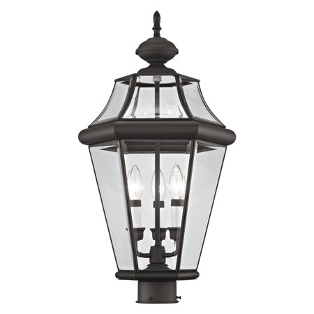 Outdoor Post Top Lantern (Livex Lighting Georgetown 3 Light Outdoor Post Lantern )