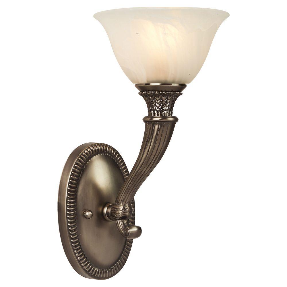 1-Light Pewter Sconce