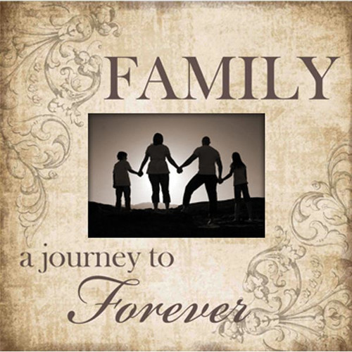 Image of Adams & Co Family A Journey to Forever Wood Picture Frame
