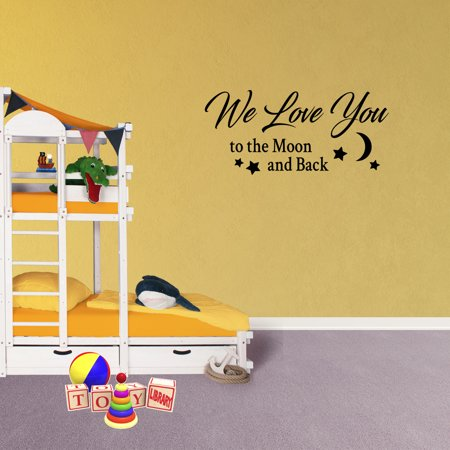 Wall Decal Quote We Love You To The Moon And Back Vinyl Sticker Love ...