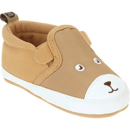 Primigi Toddler Boys Shoes - First Steps By Stepping Stones Newborn Baby Boy Animal Canvas Slip-On Sneaker