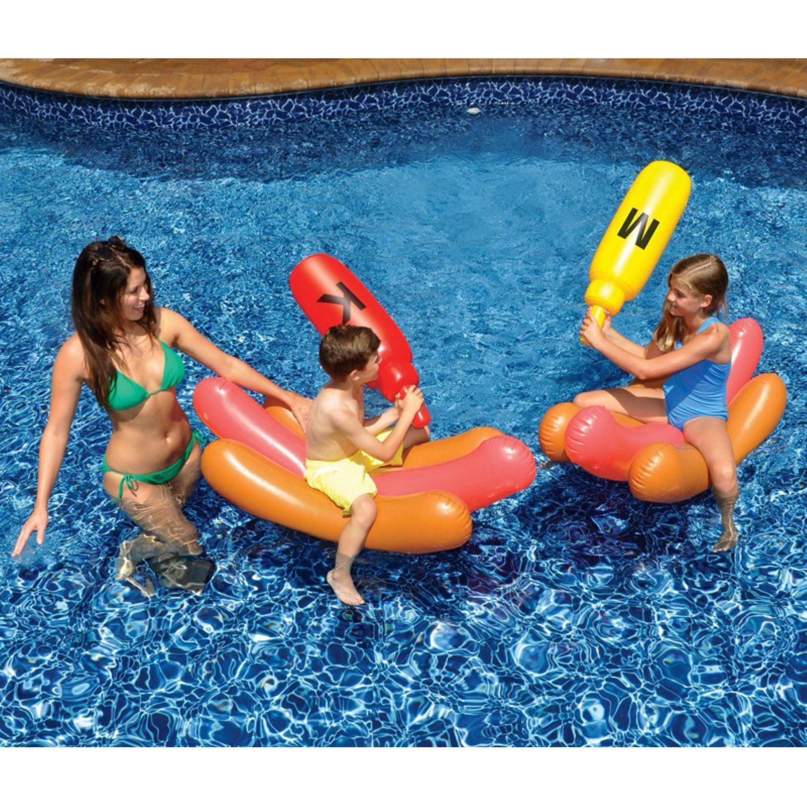 Swimline Hotdog Battle Pool Floats by Swimline