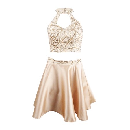 Say Yes to the Dress Juniors' 2-Pc. Sequined Dress (3,