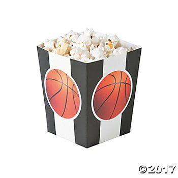 Basketball Popcorn Boxes - 24