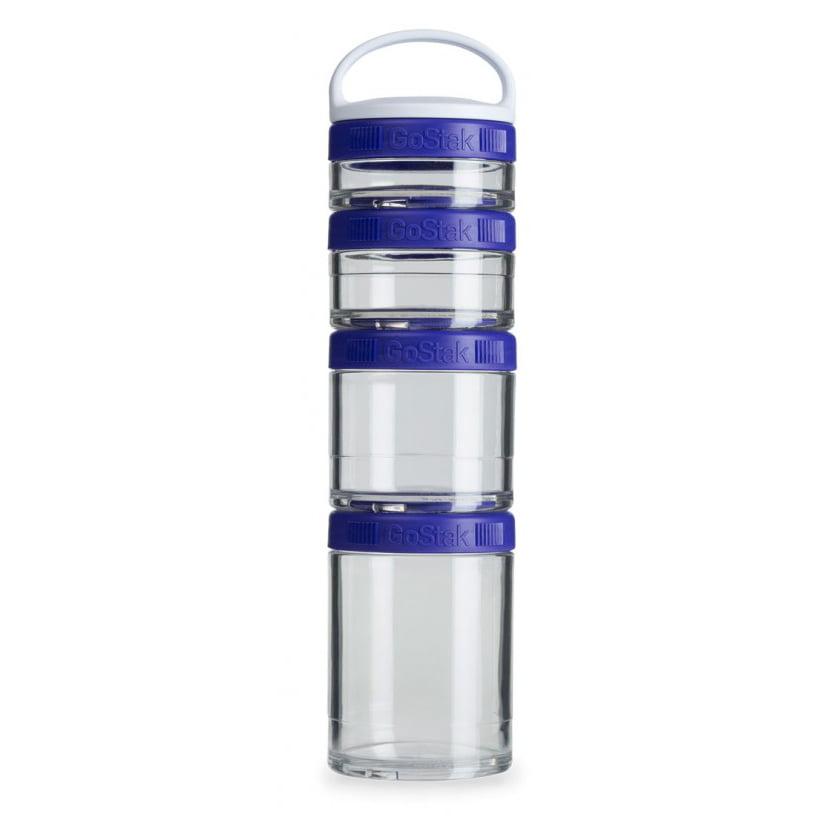 Blender Bottle GoStak Starter 4Pak Twist n' Lock Storage Jars by Blender Bottle