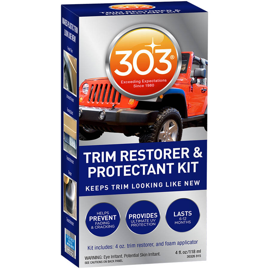 303 Automotive Trim Restorer and Protectant Kit, 4 oz with Applicator Pad by 303 Products