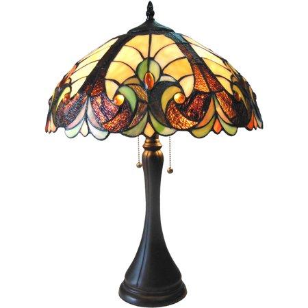 Lamp Victorian Table Lamp - Chloe Lighting Amor Tiffany-Style 2-Light Victorian Table Lamp with 16