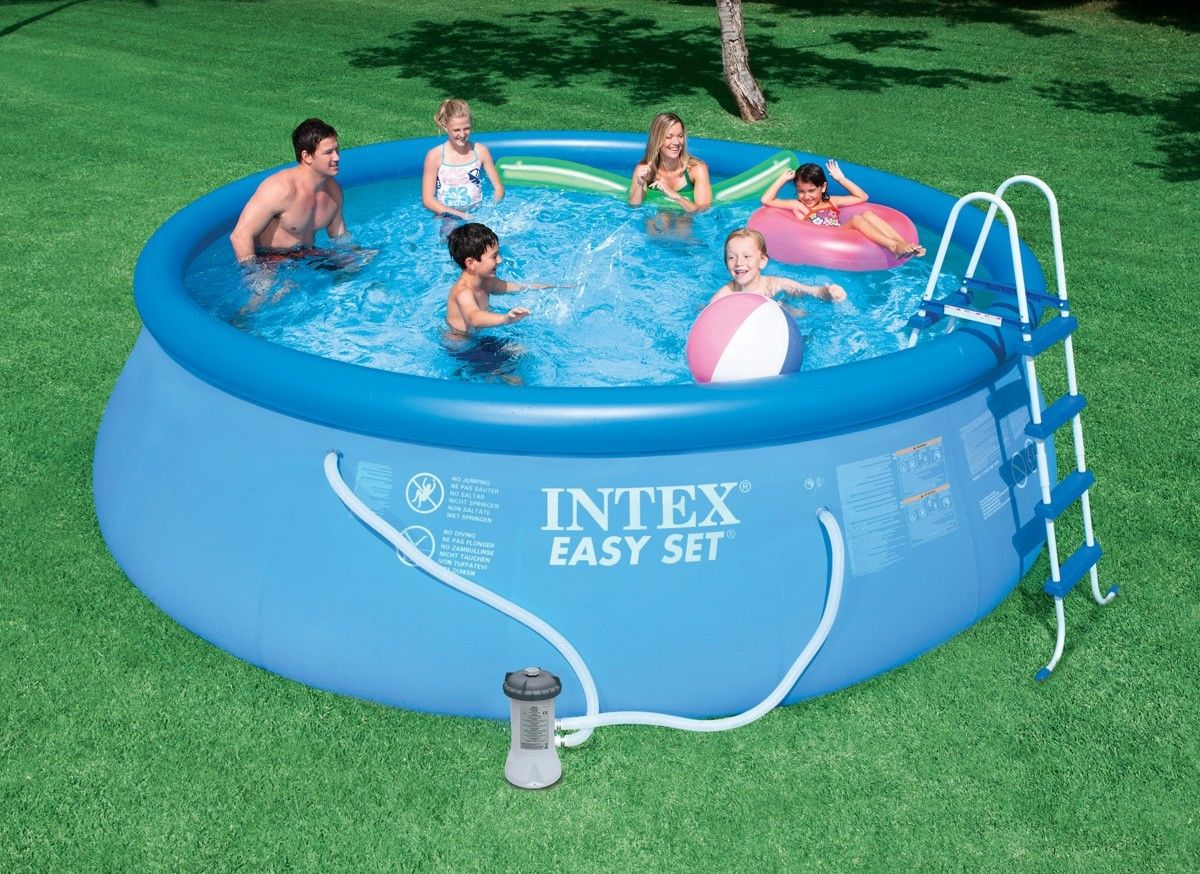 intex 15 x 48 easy set above ground swimming pool w 1000 gph gfci pump 28167eh walmartcom