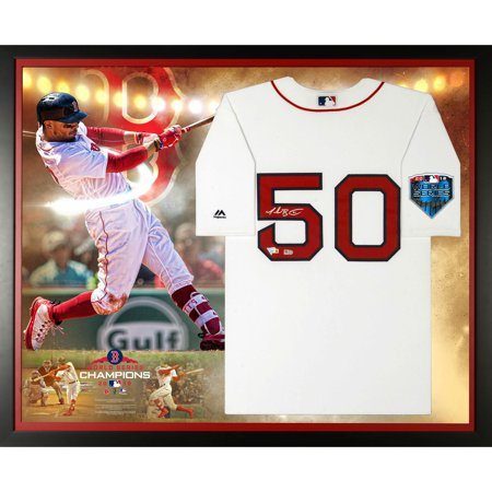 - Mookie Betts Boston Red Sox 2018 MLB World Series Champions Framed Autographed Majestic White Replica World Series Jersey Collage - Fanatics Authentic Certified