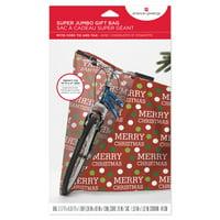 Merry Christmas Jumbo Plastic Gift Bag