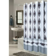 """Extra Wide, EZ-ON® """"Harlequin"""" Polyester Shower Curtain"""