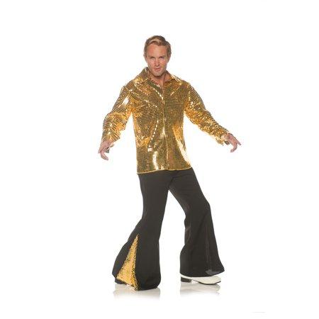 Dancing King Men's Adult Halloween Costume, One Size, (42-46) - Dancing Halloween Costumes