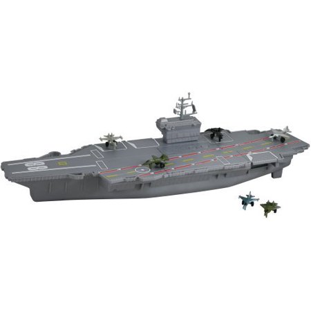 Aircraft Carrier Planes (18 Aircraft Carrier Playset with Realistic Sounds by, Durable plastic By Motormax )
