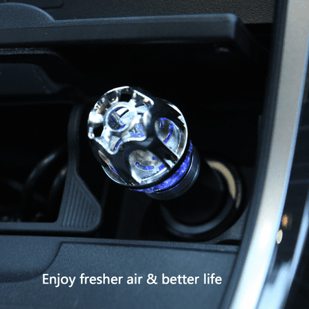 HDE Car Air Purifier Ionizer Removes Cigarette Smoke Pollen Pollutants and  Pet Smells for Fresher Cleaner Air