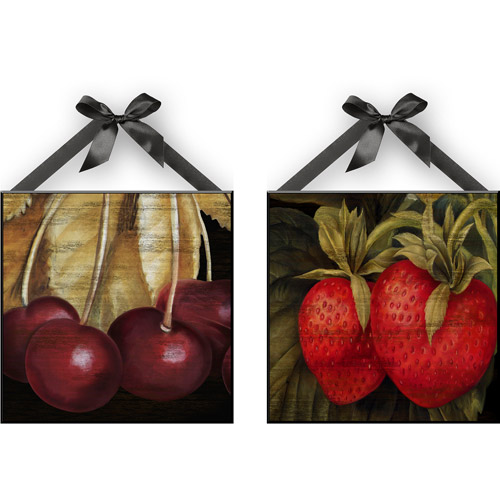 """""""Fall Cherries & Berries"""" Wall Plaques, Set of 2 by"""