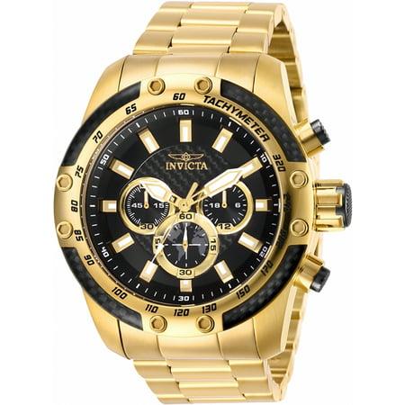 100m Subdials Bracelet - Invicta Men's Speedway Quartz Chrono 100m Gold Tone Stainless Steel Watch 28658