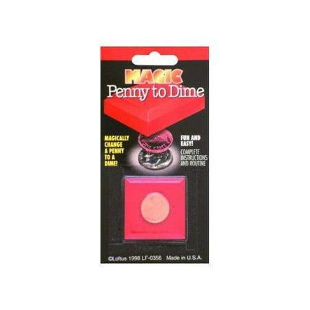 Empire Magic Penny To Dime Trick (Magic Penny Magnet Kit)