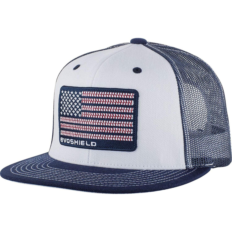 check out acdd7 d3b52 ... gold thread flex fit hat 2da71 70568 store evoshield flag patch  snapback trucker hat white navy mesh adb30 51ea7 ...