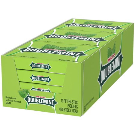 Product Of Wrigley'S Doublemint Chewing Gum (15 Ct., 12 Pk.) -Pack Of 2 - For Vending Machine, Schools , parties, Retail