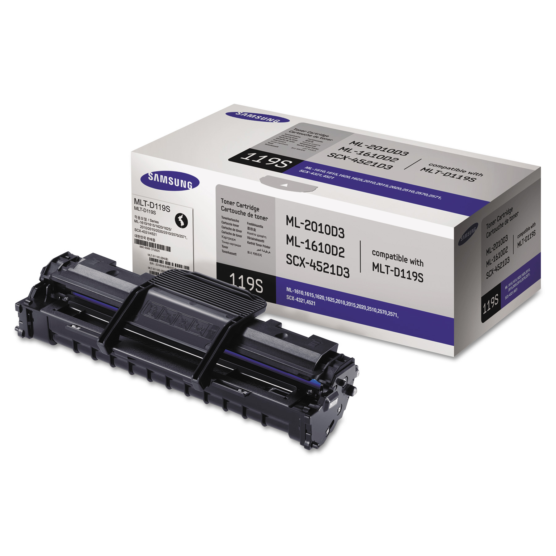 Samsung MLT-D119S (SU864A) Toner, 2000 Page-Yield, Black