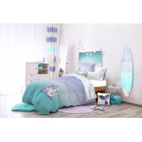 The Little Mermaid Teal & Purple Ombre Bed in a Bag Bedding Set w/ Reversible Comforter