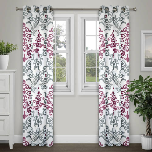 "Brinley Home Printed Grommet-Top 84"" Curtain Panel by Brinley Co."
