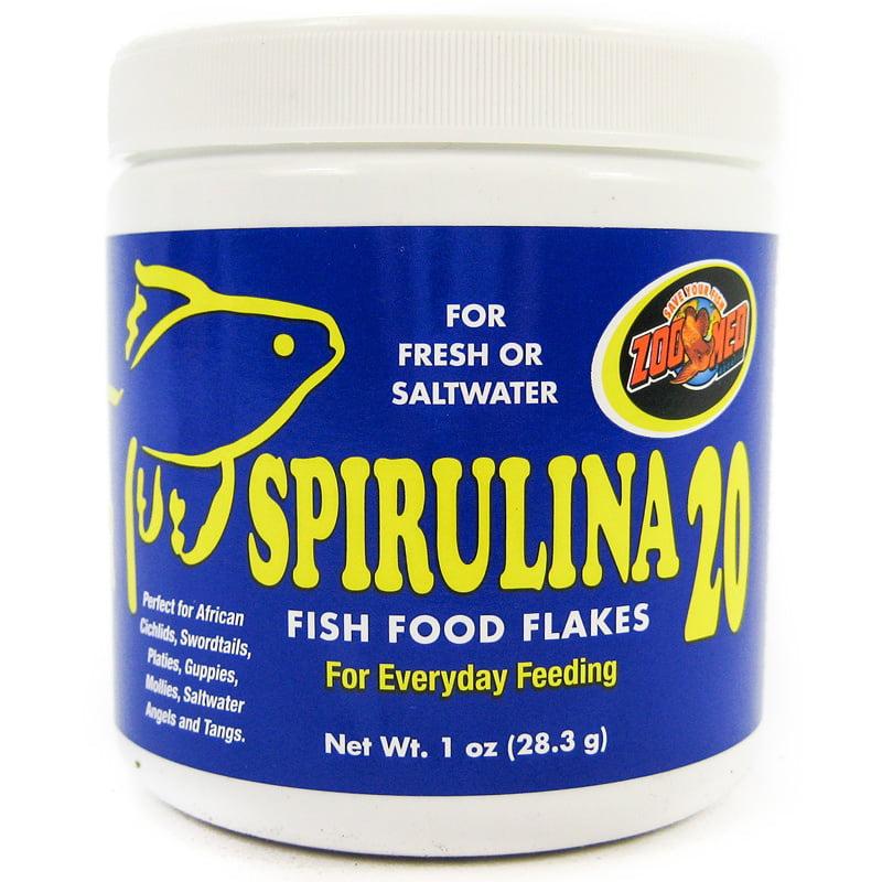 Zoo Med Aquatic Spirulina 20 Fish Food Flakes 1 oz by ZOO MED LABS INC