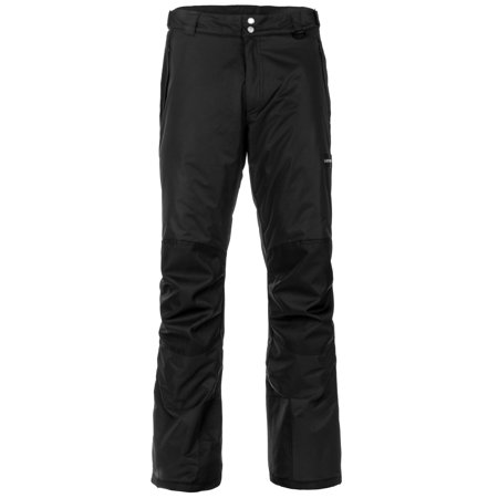 Lucky Burns Adult Insulated Reinforced Knees and Seat Men Women Snow Ski Pants, Black,