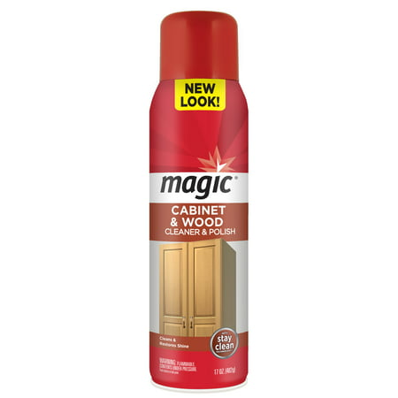 Magic Cabinet & Wood Cleaner & Polish, 17 Oz (Best Wood Cabinet Polish)