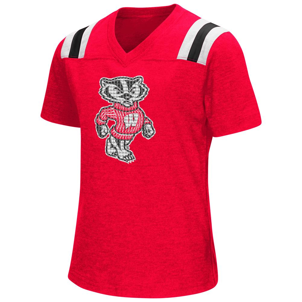 Youth Girls Colosseum Rugby University of Wisconsin Badgers T-Shirt