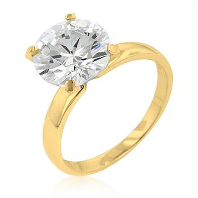 Timeless Gold Solitaire Engagement Ring, <b>Size :</b> 07