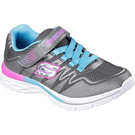 - Skechers Girls' Dream N Dash Whimsy Girl Sneaker,Charcoal/Turquoise,US 1.5 W