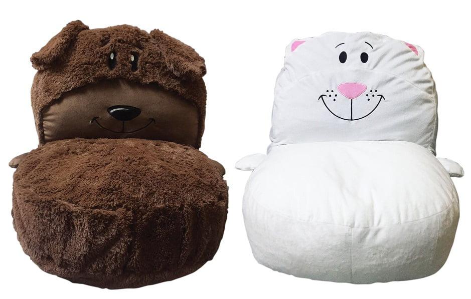 FlipaZoo Plush 2-in-1 Kids Stuffed Animal Chair, Multiple Options