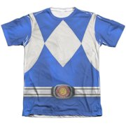 Mighty Morphin Power Rangers Blue Ranger (Front Back Print) Mens Shirt