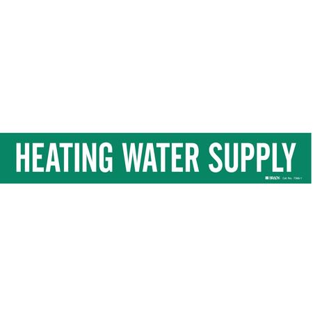 Pipe Marker,Heating Water Supply,Green BRADY 7366-1