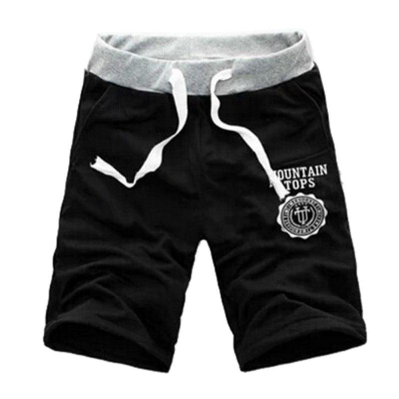 Men Slim Trousers Casual Jogger Sweatpants Fitness Workout Cotton Short Pants