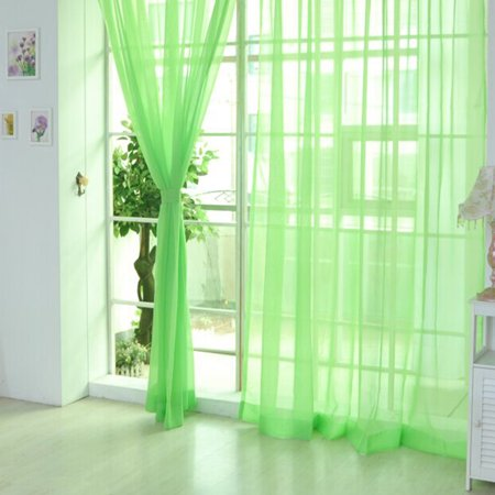 Solid color wedding glass yarn transparent window curtain color curtain ()